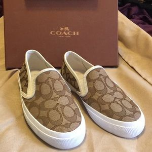 Brand new in box COACH slip-on sneakers